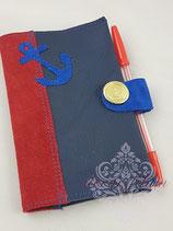 Notizbuch blau mit Anker