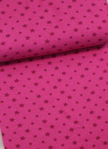 Bündchen Sterne pink, 0,5 m