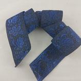 Brokatborte Blätter blau-schwarz