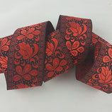 Brokatborte Blätter rot-schwarz