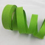 Baumwollschrägband, hellgrün, 1 m