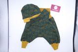 Set Pumphose, Mütze und Halstuch aus Kuschelfleece grün, aus Jersey grau oder andere Stoffe
