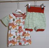 Set T-Shirt kurzarm + Pumphose kurz