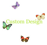 Small Round Sterling Earrings in Custom Design