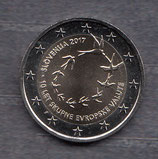 Slowenien 2€ Gedenkmünze 2017 - 10 Jahre Einführung Euro