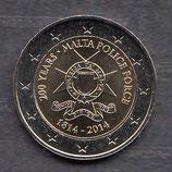 Malta 2€ Gedenkmünze 2014 - Polizei