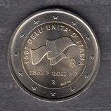 Italien 2€ Gedenkmünze 2011 Vereinigung