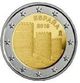 Spanien 2€ Gedenkmünze 2019 - Avilas Altstadt