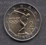 Griechenland 2€ Gedenkmünze 2004 - Olympia