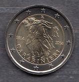 Italien 2€ Gedenkmünze 2014 - Carabinieri