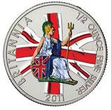 Großbritannien - Britannia 2011 0,5oz coloriert