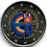 Slowakei 2 € Gedenkmünze 2014 - EU Beitritt koloriert