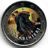 Italien 2€ 2014 - Carabinieri koloriert