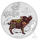Niue - Lunar Schwein 2019 PP coloriert