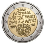 Portugal 2€ 2020 - 75 Jahre Vereinte Nationen