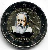Italien 2€ 2014 - Galileo Galilei koloriert B