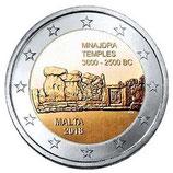 Malta 2€ Gedenkmünze 2018 - Prähistorische Stätten Mnajdra