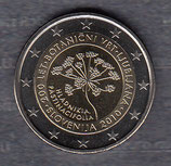 Slowenien 2€ Gedenkmünze 2010 - Botanischer Garten Ljubljana