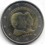 Luxemburg 2€ Gedenkmünze 2006 - 25.Geburtstag Guillaume