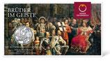 10 Euro Silbermünze 2021 Brüderlichkeit Hgh im Folder