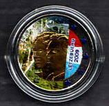 Luxemburg 2€ Sondergedenkmünze 2009 - Henri u. Charlotte koloriert