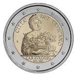 Vatikan 2€ 2021- Geburtstag von Caravaggio