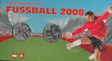 2x 5 Euro Silber 2008 Fußball hgh