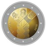 Litauen 2€ Gedenkmünze 2018 - Baltische Gemeinschaftsausgabe Unabhängigkeit