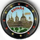 Spanien 2€ 2013 - El Escorial koloriert