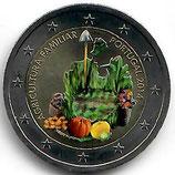 Portugal 2€ Gedenkmünze 2014 - Landwirtschaft koloriert