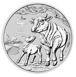 Australien - Lunar III Ochse 2oz 2021