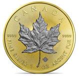 Kanada - Maple Leaf 2021 Gold/Rhodium