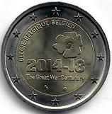 Belgien 2€ Gedenkmünze 2014 - 1. Weltkrieg