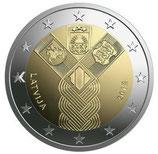 Lettland 2€ Gedenkmünze 2018 - Baltische Gemeinschaftsausgabe Unabhängigkeit