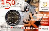 Belgien 2€ Gedenkmünze 2014 - Rotes Kreuz