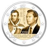 Luxemburg 2€ Gedenkmünze 2018 - 175. Todestag Guillaume I.