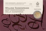 San Marino 2€ Gedenkmünze 2016 - Shakespeare