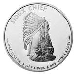Round - USA Sioux Indian War Chief 2021