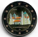 Deutschland 2€ Gedenkmünze 2014 Michaeliskirche koloriert