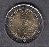Finnland 2€ Gedenkmünze 2015 - Sibelius