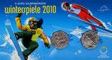 2x 5 Euro Silber 2010 Winterspiele hgh