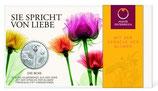10€ Silbermünze 2021 Rose hgh im Folder