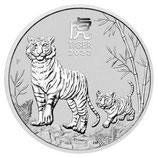 Australien - Lunar III Tiger 2oz 2022