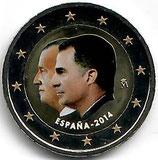 Spanien 2€ 2014 - Thronfolge