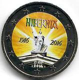 Irland 2€ Gedenkmünze 2016 - Osteraufstand koloriert