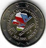 Slowakei 2€ 2011 - Visegrad Gruppe koloriert