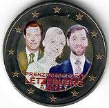 Luxemburg 2€ 2012 - Hochzeit koloriert