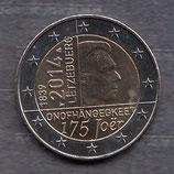 Luxemburg 2€ Gedenkmünze 2014 - Unabhängigkeit