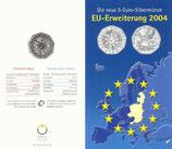 5 Euro Silber 2004 EU-Erweiterung hgh