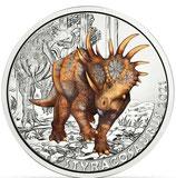 3 Euro Dinotaler 2021 - Styracosaurus #8